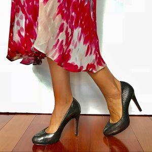 Luxury Rebel Silver Black metallic Heels
